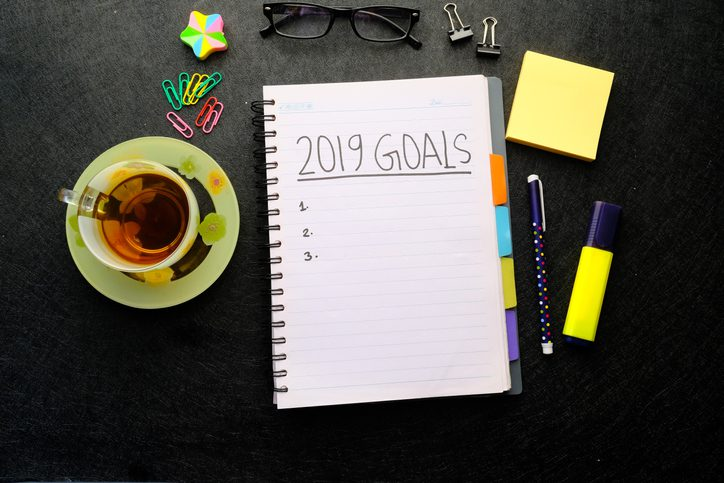 Polk Electric LLC | new year goals written on note pad